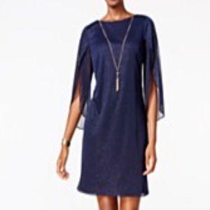 Angel Sleeve Glitter Dress 👗